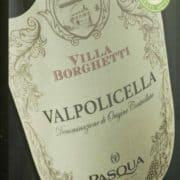 het etiket van de wijn